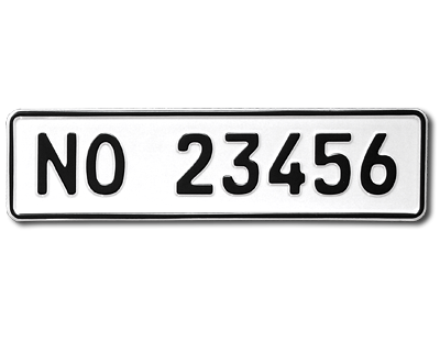 registreringsnummer på bil norge
